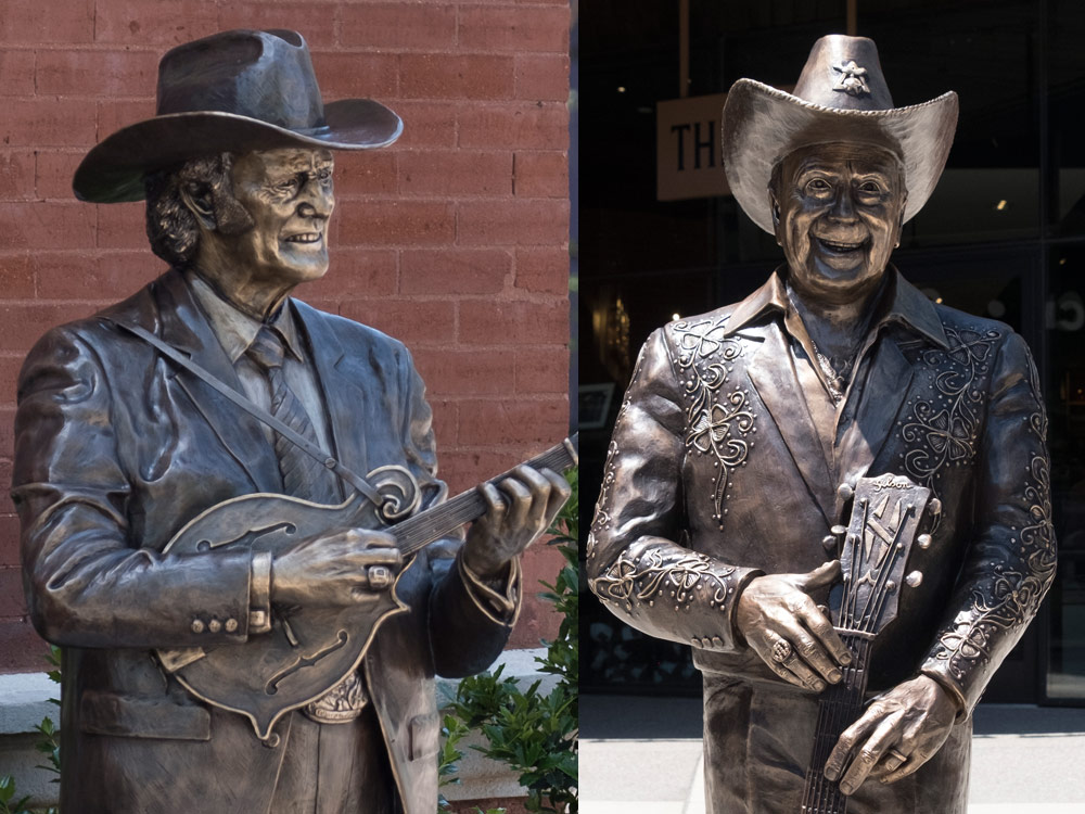 Bill Monroe & Little Jimmy Dickens Memorialized With Life-Size Bronze Statues at the Ryman Auditorium