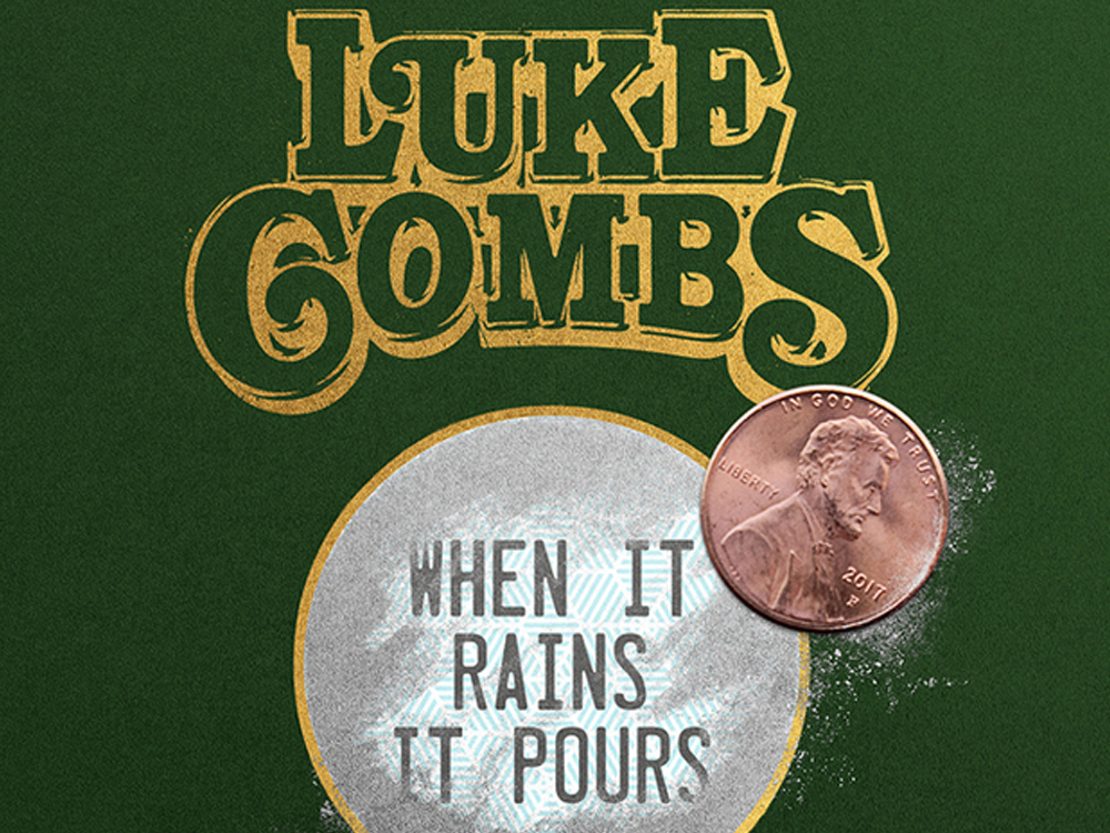 "Watch Luke Combs' New Lyric Video for ""When It Rains It Pours"""