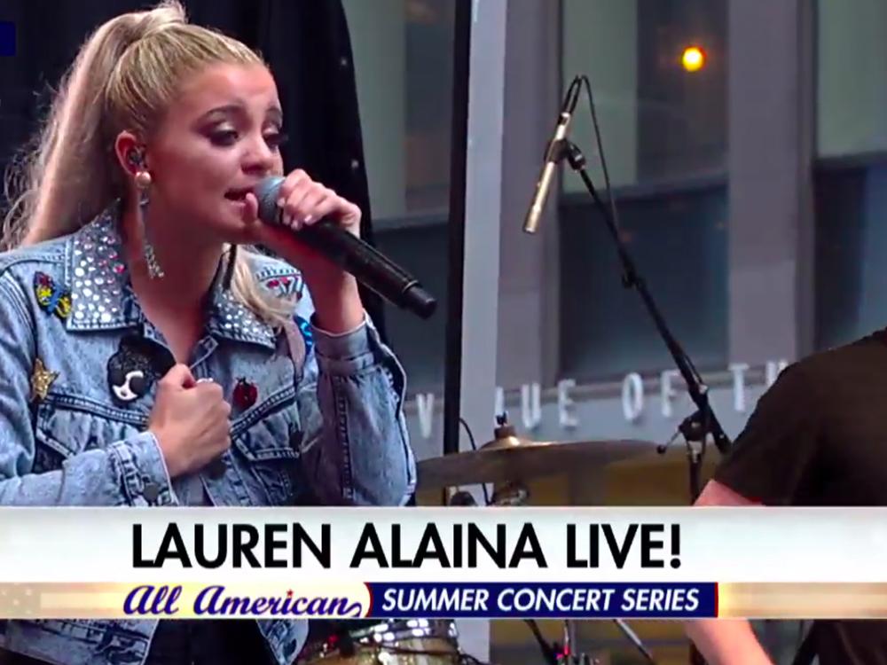 """Watch Lauren Alaina Perform """"Doin' Fine"""" on """"Fox & Friends"""" Summer Concert Series"""