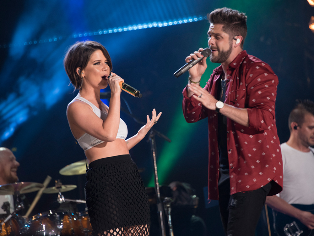 """Thomas Rhett Notches His 8th No. 1 With """"Craving You"""" Featuring Maren Morris"""