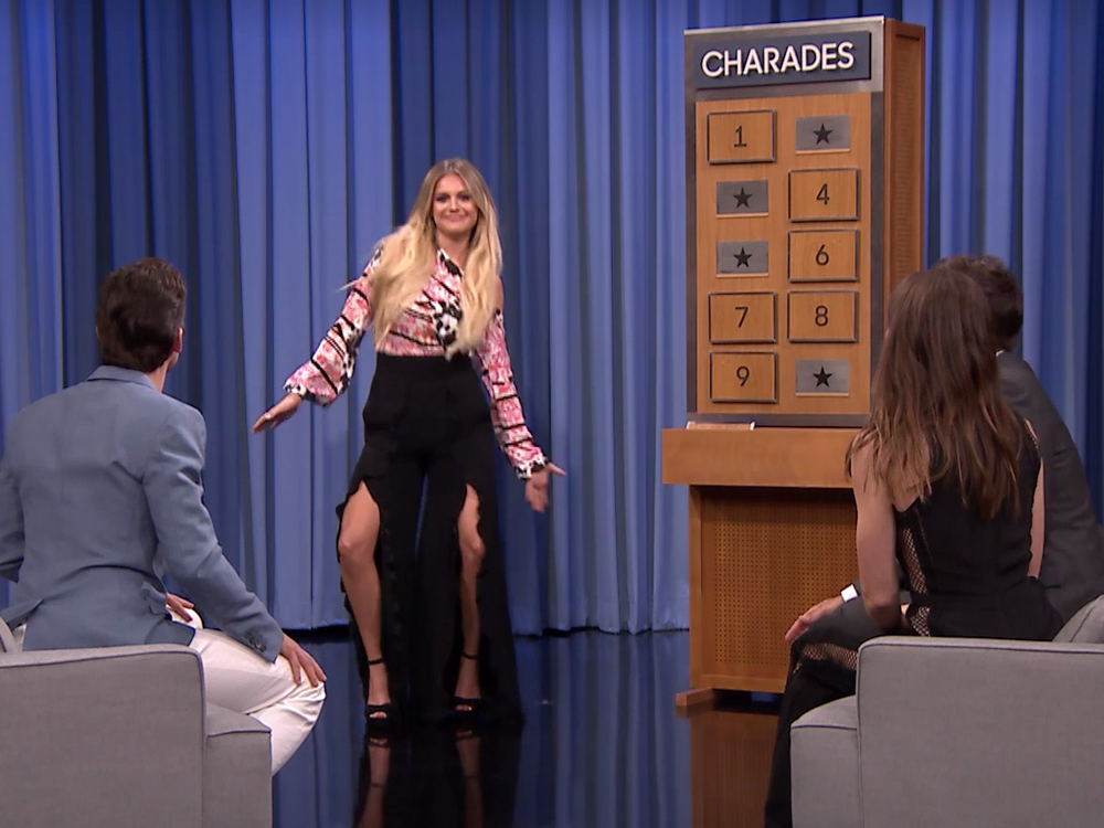 "Watch Kelsea Ballerini Play Charades With Jimmy Fallon, Jessica Biel & Matt Bomer on ""The Tonight Show"""