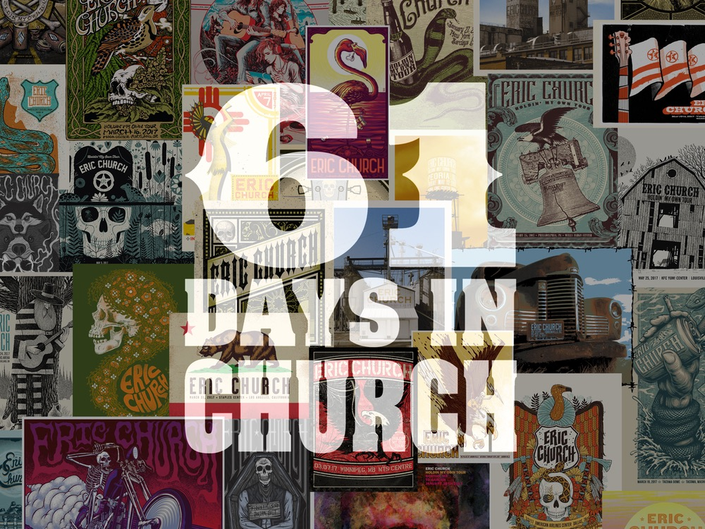 "Eric Church to Release 122 Live Recordings in the Coming Weeks in New Project, ""61 Days In Church"" . . . 30 Songs Available Now"