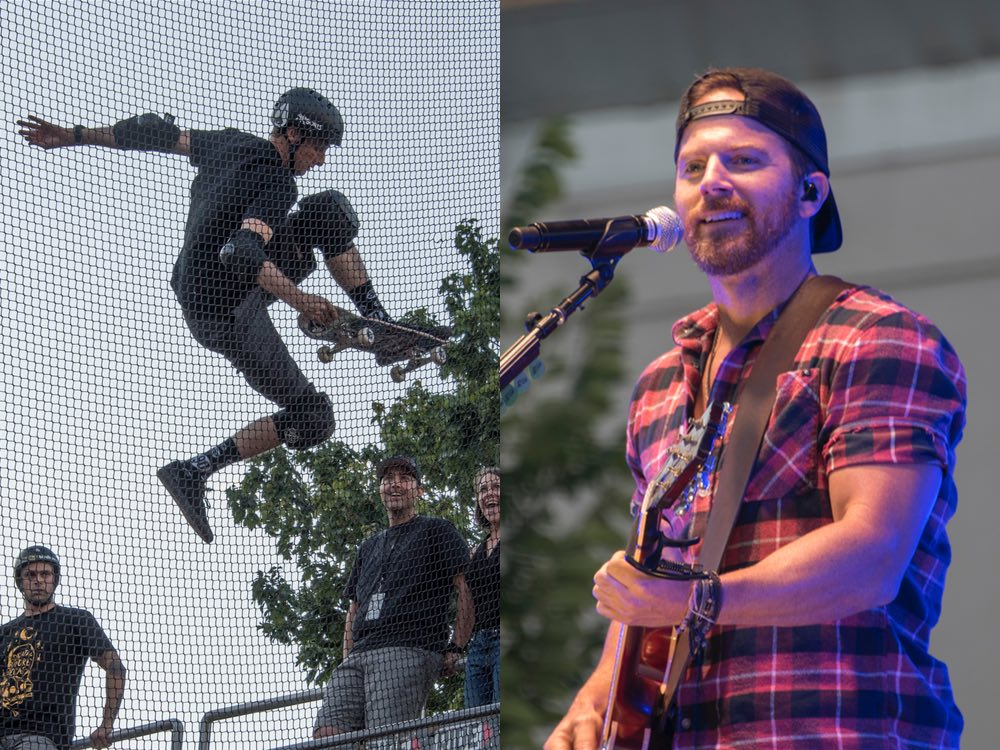 Kip Moore Sings and Tony Hawk Skates to Raise Money for Hurricane Relief [Photo Gallery]