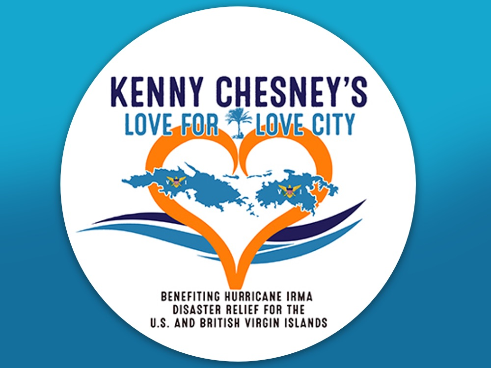 """Kenny Chesney Launches """"Love for Love City"""" Foundation for Hurricane Irma  Relief & Records New Music 