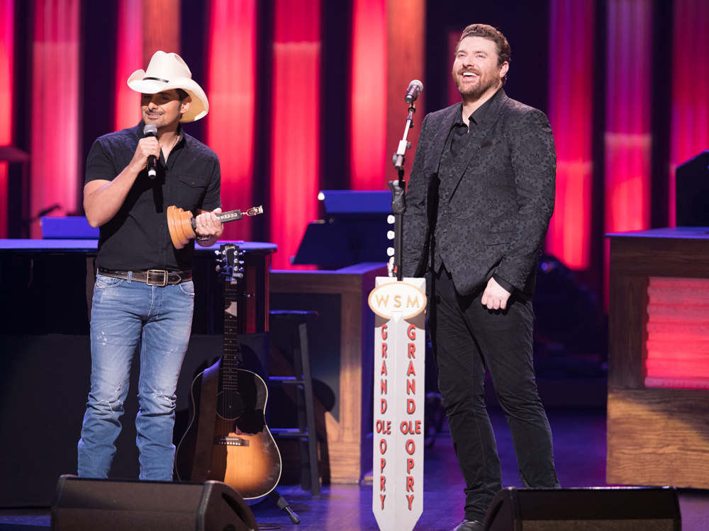 Watch Brad Paisley Induct Chris Young Into the Grand Ole Opry