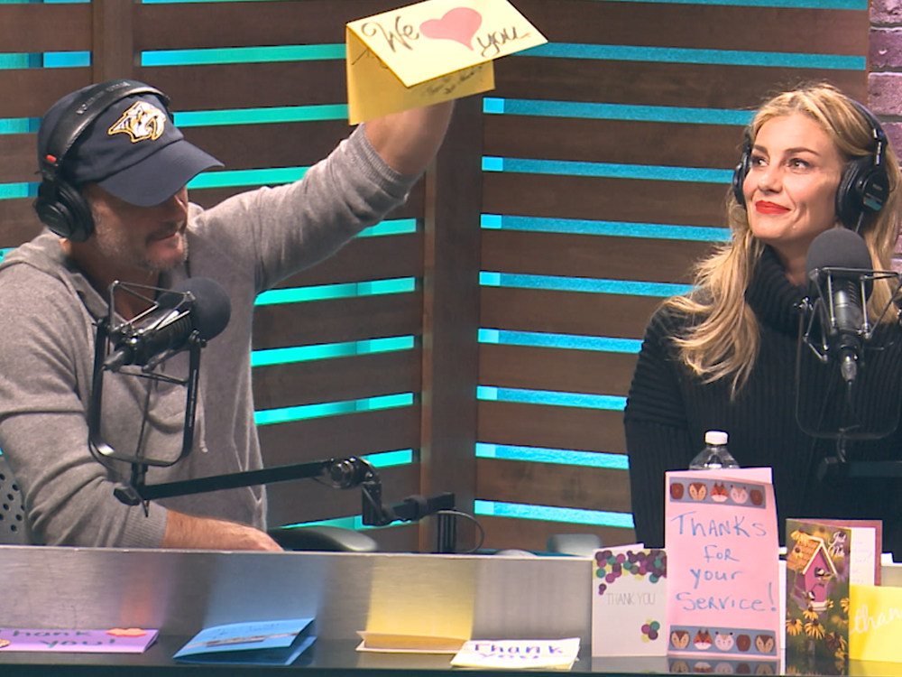 "Tim McGraw, Faith Hill, Blake Shelton, Keith Urban & More Help ""Ty, Kelly & Chuck"" Send 100,000 Thank You Cards to the Troops"