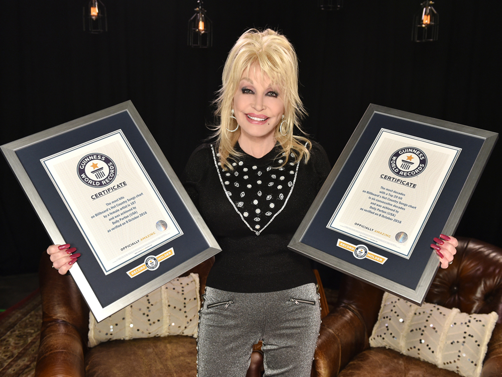 Dolly Parton Sets Two Guinness World Records