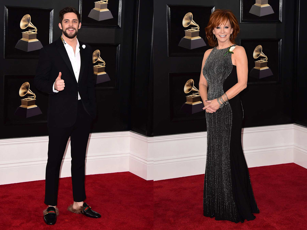 Photo Gallery: Grammy Awards Red Carpet, Including Reba, Thomas Rhett (+ His Shoes), Little Big Town and More