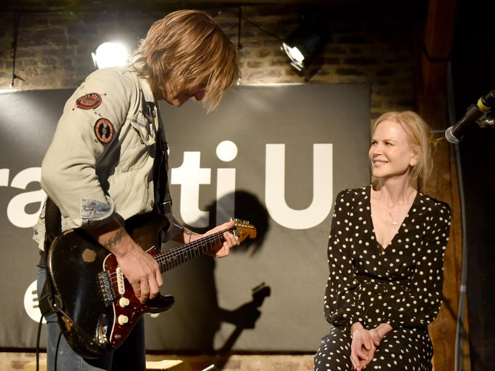 "Keith Urban Duets With Wife Nicole Kidman [Watch] & Confesses to Hearing a ""Weird Voice"" in His Head"