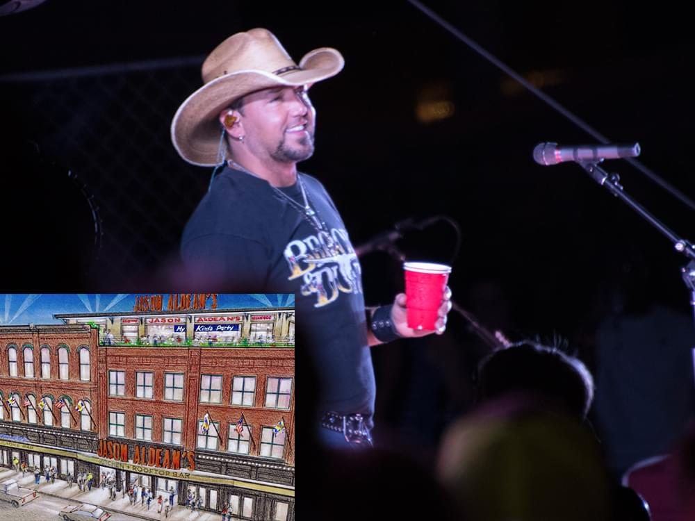 Jason Aldean Set to Open New Downtown Nashville Venue in June: Jason Aldean's Kitchen + Rooftop Bar