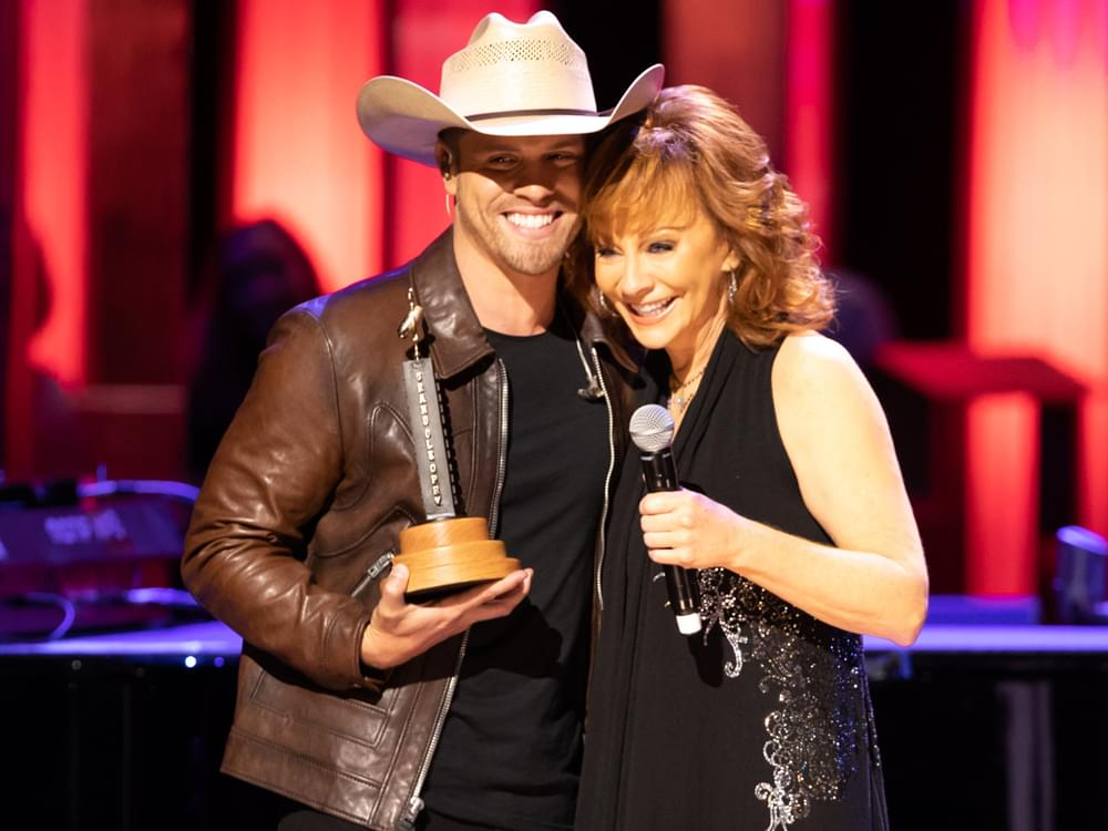 Watch Reba McEntire Officially Induct Dustin Lynch Into the Grand Ole Opry