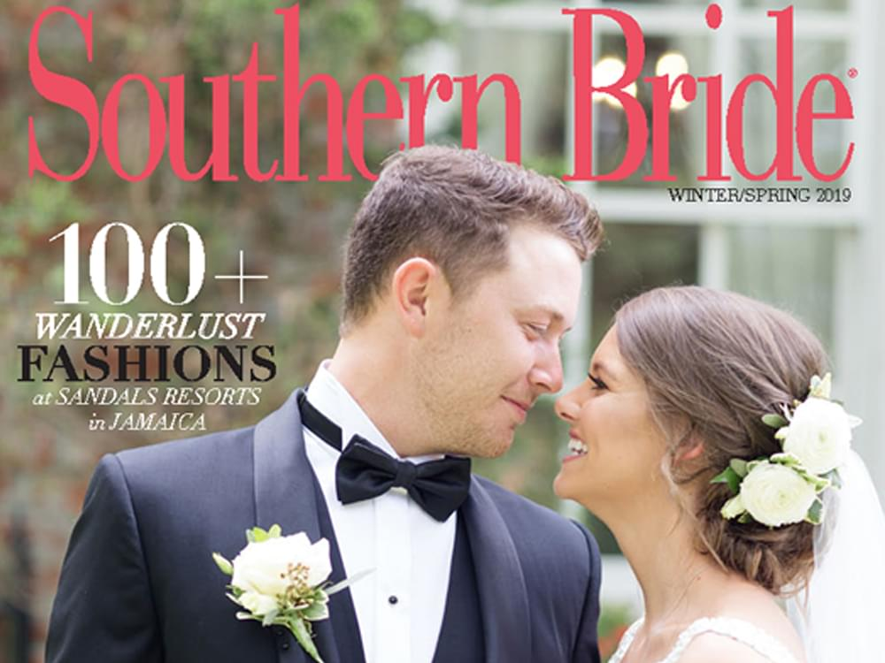 """Scotty McCreery & Gabi Dugal Featured on the Cover of """"Southern Bride"""" Magazine"""