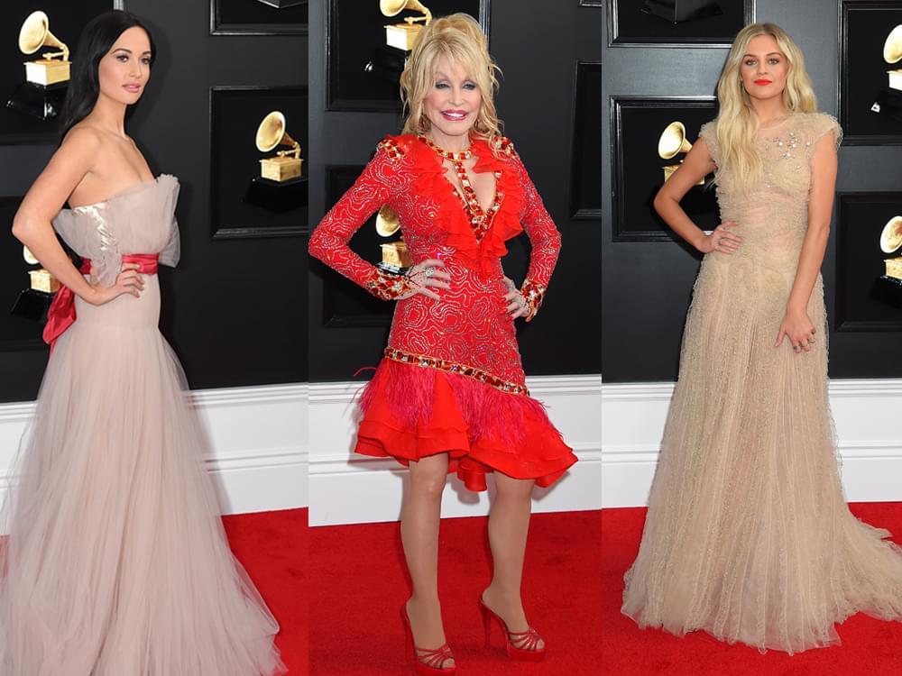 Photo Gallery: Grammy Awards Red Carpet, Including Dolly, Kacey, Maren, Kelsea, Little Big Town, Florida Georgia Line, Chris Stapleton & More