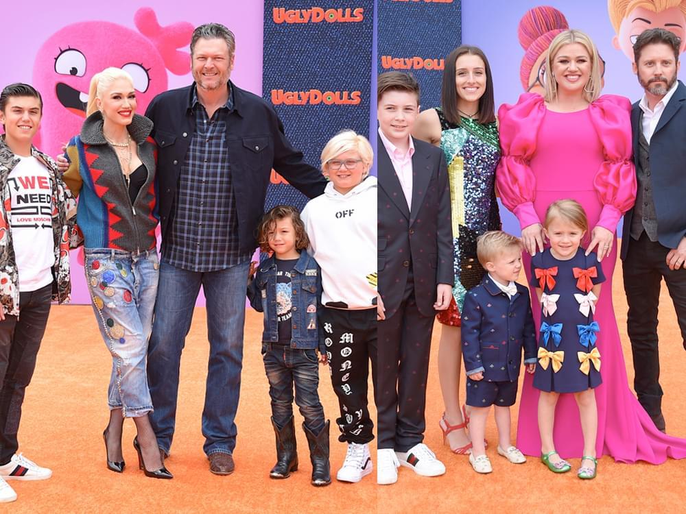 "Blake Shelton & Kelly Clarkson Turn ""UglyDolls"" Premiere Into Family Night"