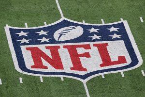 nfl logo on the field
