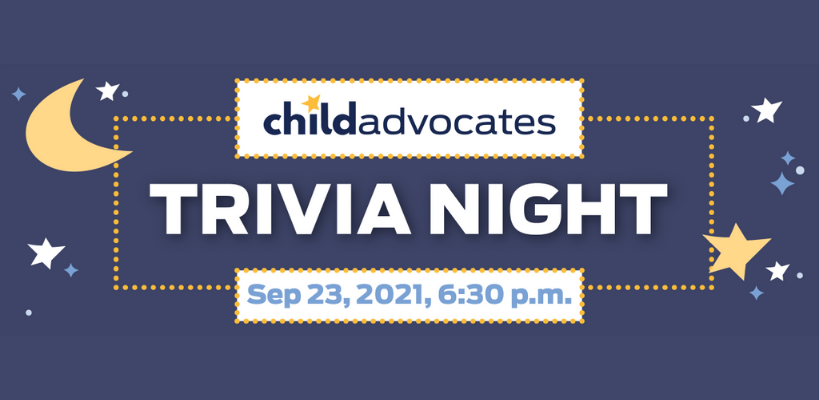 September 23 – Virtual Trivia Night Fundraiser for Child Advocates