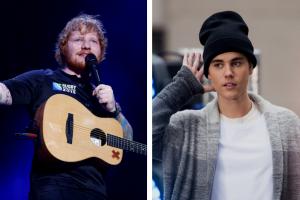 Ed Sheeran and Justin Bieber