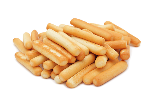 Bread sticks, isolated on a white background