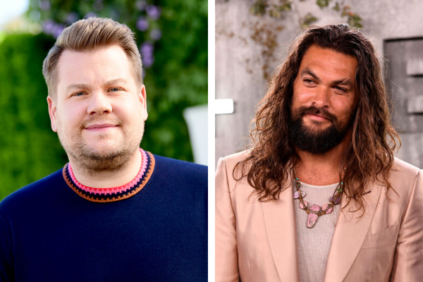 James Corden and Jason Momoa