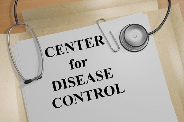 """3D illustration of """"CENTERS for DISEASE CONTROL"""" title on medical document"""