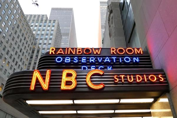 New York, USA. 23rd August, 2016. The world headquarters for NBC News, the Saturday Night Live studios and the Rainbow Room.