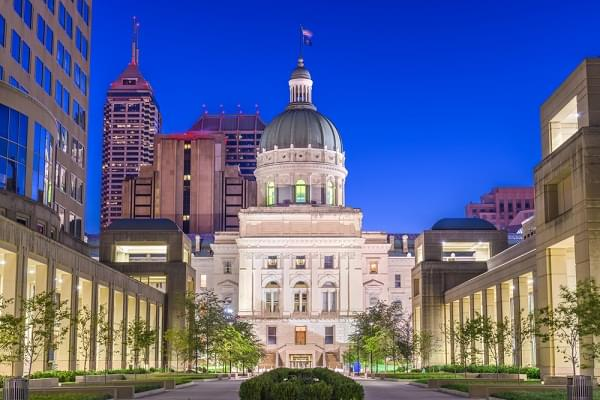 Indiana State Capitol Building in Indianapolis, Indiana, USA.
