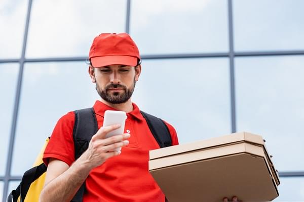 food delivery person