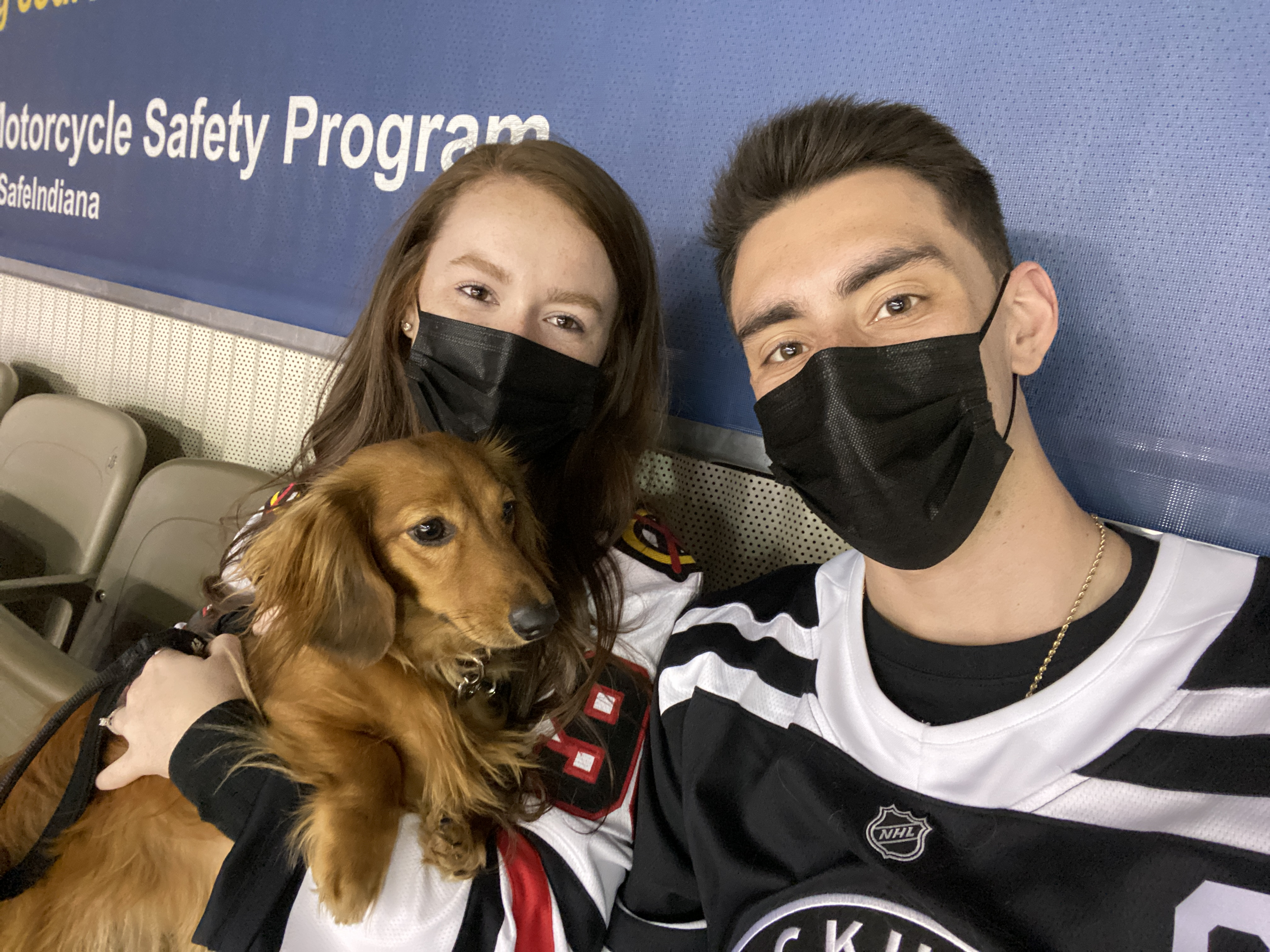 We Took One Of Our Dogs To A Hockey Game