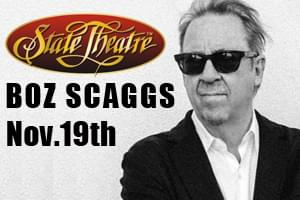 Boz Scaggs at the State Theatre November 19th!