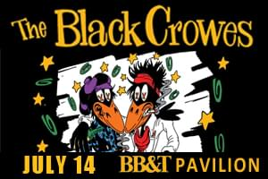Just Announced! The Black Crowes come to BB&T Pavillion!