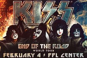 Kiss at PPL Center February 4th