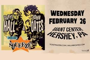Hall & Oates at The Giant Center on February 26th