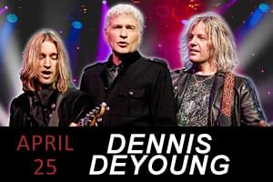 99.9 The Hawk Welcomes Dennis DeYoung
