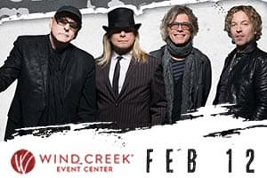 99.9 The Hawk Welcomes Cheap Trick to Wind Creek Event Center!
