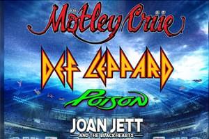 RESCHEDULED: Motley Crue, Def Leppard, Poison & Joan Jett at Hersheypark Stadium July 20, 2021!