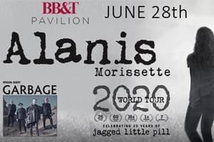 POSTPONED: Alanis Morissette at BB&t Pavilion June 28