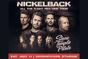 99.9 The Hawk Welcomes Nickelback and Stone Temple Pilots to Hersheypark Stadium