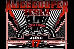 99.9 The Hawk welcomes Alice Cooper with Tesla & Lita Ford to the Mohegan Sun Arena
