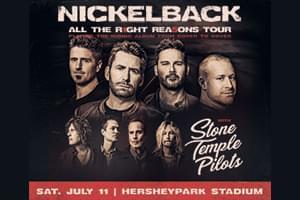 CANCELLED: Nickelback at HersheyPark Stadium July 11