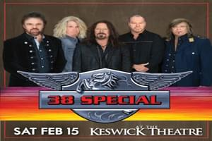.38 Special at Keswick Theater February 15th