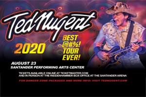 Ted Nugent at Santander Performing Arts Center August 23rd