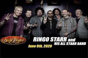 99.9 The Hawk Welcomes Ring Starr and His All Starr Band to the State Theater June 6th