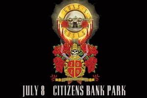 99.9 The Hawk Welcome Guns n Roses To Citizens Bank Park July 8th