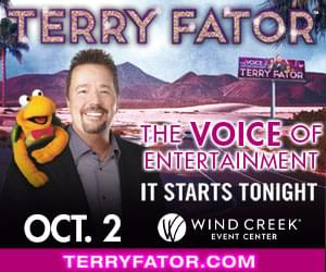 Terry Fator at Wind Creek Event Center October 2