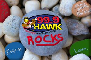 """99.9 The Hawk """"Rocks"""""""