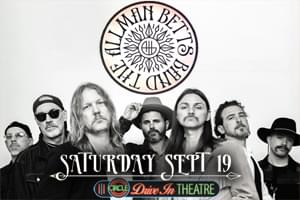 The Allman Betts Band at Circle Drive-In September 19th