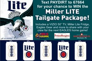 "Enter the 99.9 The Hawk & Miller-Lite Backyard ""Home Team"" Tailgate"