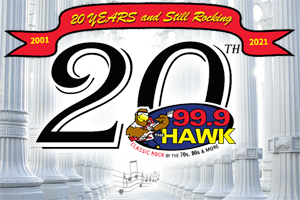 The History of 99.9 The Hawk – Celebrating 20 Years!
