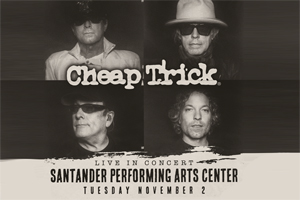 99.9 The Hawk Welcomes Cheap Trick to the Santander Performing Arts Center