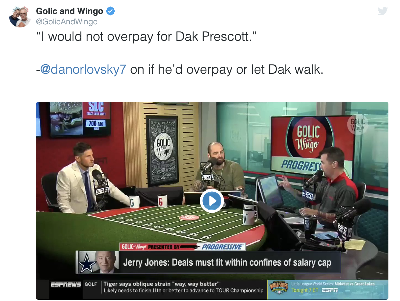 "WATCH – ""I would not overpay for Dak"""